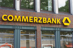 Commerzbank logo Royaltyfri Fotografi