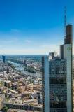 Commerzbank si eleva, Francoforte, Germania fotografia stock libera da diritti