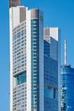 Commerzbank skyskrapa i Frankfurt, Tyskland royaltyfri fotografi