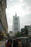 Commerzbank tower Frankfurt Stock Photo