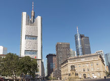 Commerzbank tower and Main Tower Stock Image