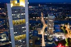 Commerzbank y Banco Central Europeo Foto de archivo