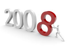 Comming 2008. New year concept isolated on white stock illustration