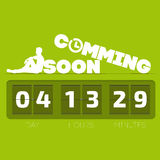 Comming soon with countdown timer. Vector illustration Royalty Free Stock Image