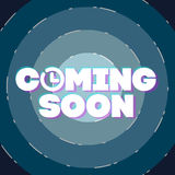 Comming soon vector illustration. Comming soon temporary banner page, vector illustration Stock Image