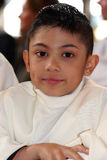 On a comminion day. Portrait of a young boy on his communion day Stock Images