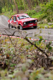 A. Commins driving Ford Escort Stock Image