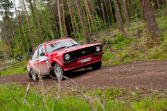 A. Commins driving Ford Escort Stock Images