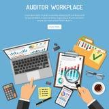 Commissaire aux comptes Workplace Concept illustration de vecteur