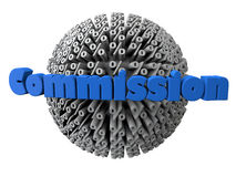 Commission with percentage symbols sphere Royalty Free Illustration