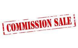 Commission sale. Rubber stamp with text commission sale inside,  illustration Royalty Free Stock Photos