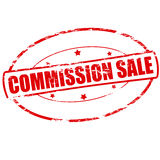 Commission sale. Rubber stamp with text commission sale inside,  illustration Stock Images