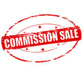 Commission sale. Rubber stamp with text commission sale inside,  illustration Royalty Free Stock Photography