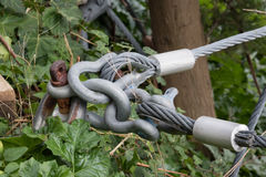 Commissione della protezione con i cavi d'acciaio fotografie stock libere da diritti