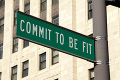 Commit to be Fit sign Stock Images