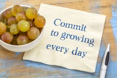 Commit to growing every day Royalty Free Stock Image