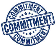 Commitment blue grunge stamp Royalty Free Stock Photo