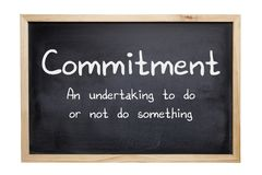 Commitment Concept Blackboard Stock Images