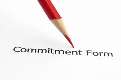 Commitment form Stock Photography