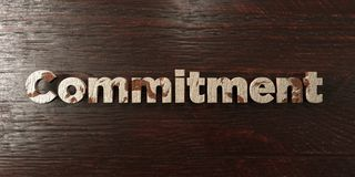 Commitment - grungy wooden headline on Maple  - 3D rendered royalty free stock image Royalty Free Stock Images