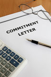 Commitment Letter Stock Photo