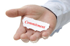 Commitment - Note Seriers Royalty Free Stock Images