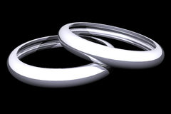 Commitment rings (3D) Royalty Free Stock Photo