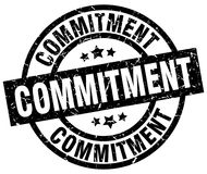 Commitment round grunge stamp Stock Images