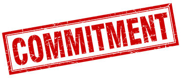 Commitment square stamp Royalty Free Stock Photography