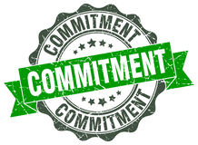 Commitment stamp. sign. seal Royalty Free Stock Photography