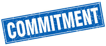 Commitment stamp Royalty Free Stock Images