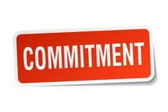 Commitment sticker Stock Photography