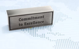 Commitment to excellence value. Business, corporate value of commitment to excellence stock images