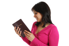 Committed christian reading bible. This is an image of a woman reading the bible stock photos