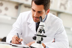 Committed to find the cure. Stock Photos
