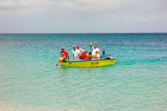 The committee boat for an annual regatta in the caribbean Royalty Free Stock Photos