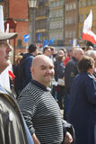 Committee for the Defence of Democracy supporters protesting in Wroclaw. On 03.04.2016 royalty free stock images