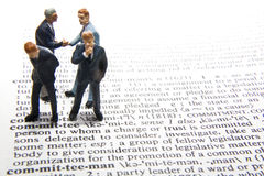 Committee Definition Stock Image