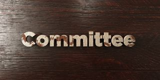 Committee - grungy wooden headline on Maple  - 3D rendered royalty free stock image. This image can be used for an online website banner ad or a print postcard Stock Image
