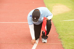 Committee line on Javelin Throw. Royalty Free Stock Images