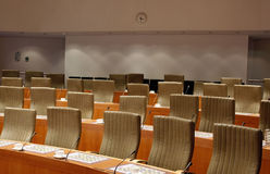 Committee meeting room Royalty Free Stock Photo