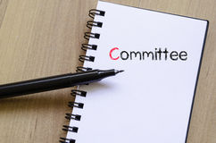 Committee text concept on notebook Stock Photography