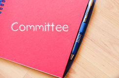 Committee text concept on notebook Royalty Free Stock Photo