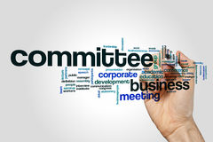Committee word cloud on grey background.  Royalty Free Stock Photos