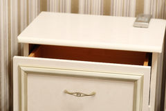 Commode with an open drawer Royalty Free Stock Photo