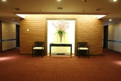 Commodious corridor in hotel Stock Image