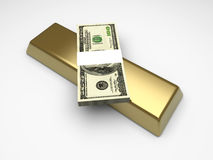 Commodities and Cash. Investments. 3D rendered Illustration vector illustration