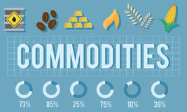 Commodities Demand Distribution Economy Concept vector illustration