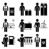 Commodities Energy Fuel Power Icons Royalty Free Stock Image
