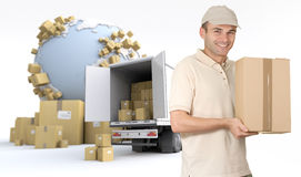 Commodity delivery Royalty Free Stock Photos